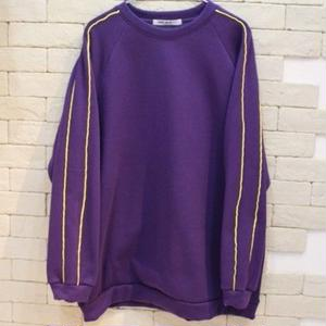 PIPING CREW NECK SWEAT -NN- PURPLE