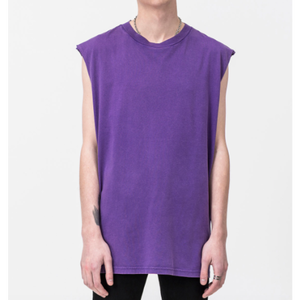 CHEAP MONDAY Sound Wash Tank Washed Purple