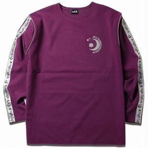 MIX LINE REFLECTIVE TEE PURPLE