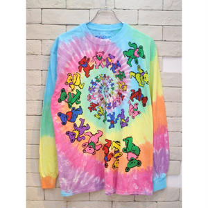 LIQUID BLUE BEAR TIE DYE L/S TEE RAINBOW