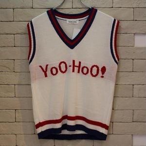 Yoo-Hoo KNIT VEST WHITE