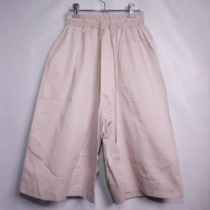 COTTON WIDE EASY SHORTS BEIGE