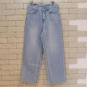 WIDE DENIM PANTS BLUE