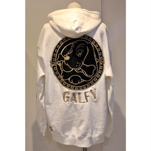 GALFY アノマークのパーカー WHITE