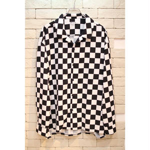 L/S CHECKER SHIRTS WHITE
