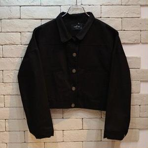 CROPPED JKT  BLACK