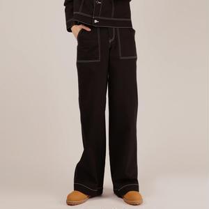 BASIC COTTON BASIC STITCH PANTS BLACK