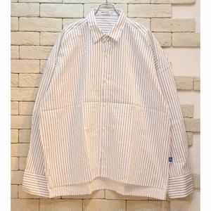 L/S  OVERSIZED STRIPE SHIRTS WHITE