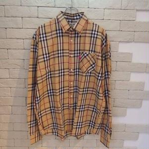 L/S OVERSIZED B CHECK SHIRTS -SR-
