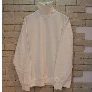 TURTLE NECK SWEAT-SR-WHITE