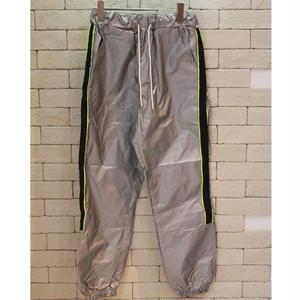 PIPING NYLON TRACK PANTS SILVER