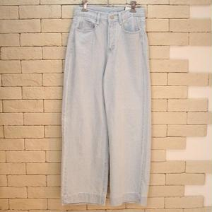 WIDE DENIM PANTS 1039 LT BLUE
