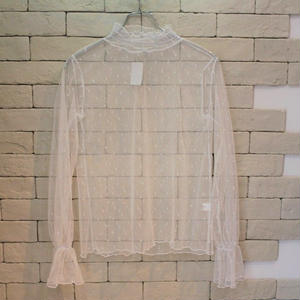 L/S LACE TEE WHITE