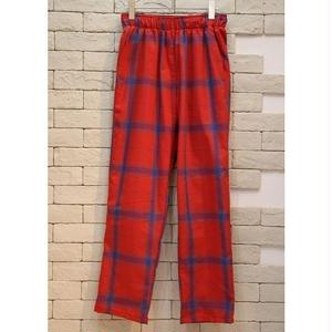 CHECK EASY PANTS-RED