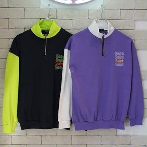 HALF ZIP MOCK NECK SWEAT