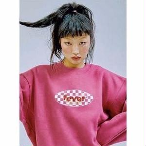 FEVERTIME 19 CHECKER CREW SWEAT PINK