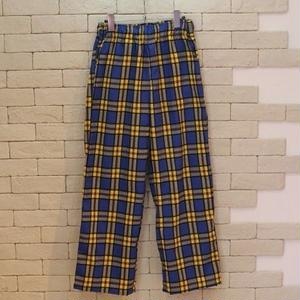 CHECK WIDE E-Z PANTS -SR- YELLOW