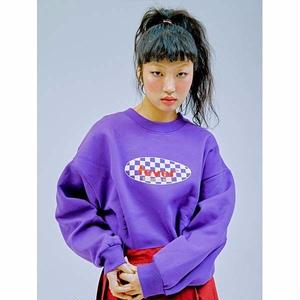 FEVERTIME 19 CHECKER CREW SWEAT PURPLE
