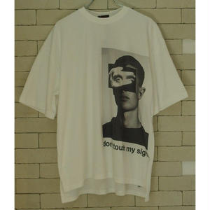 ONA COLLAGE OVER FIT TEE WHITE