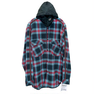 M-P-Q  LINE QUARTETHOOD CHECK SHIRT NAVY