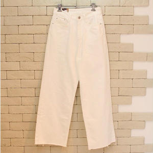 WIDE DENIM PANTS WHITE
