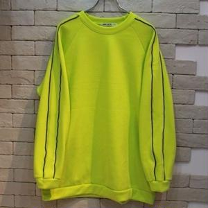 PIPING CREW NECK SWEAT -NN- LIME