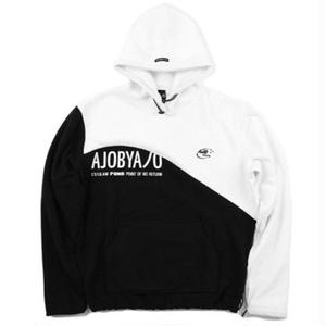 AJO BY AJO  FLEECE HOOD WHITE/BLACK
