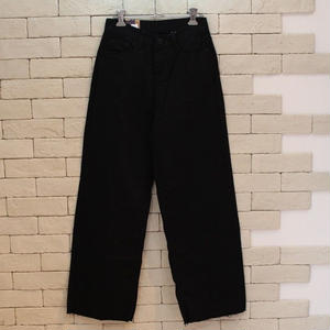 WIDE DENIM PANTS BLACK