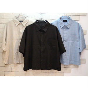 S/S CROPPED LINE SHIRTS