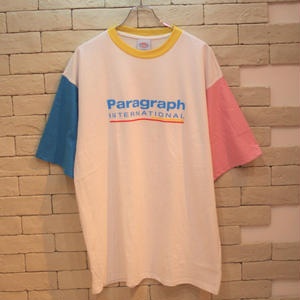 S/S PARAGRAPH RINGER TEE  YELLOW