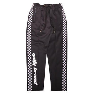 GALFY SIDELINE CHECKER TRUCK PANTS BLACK