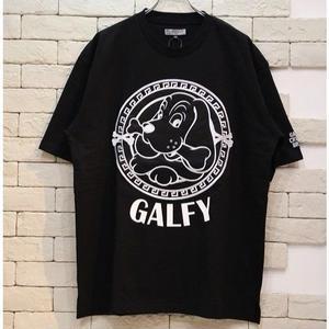 GALFY S/S EMBLEM LOGO TEE BLACK