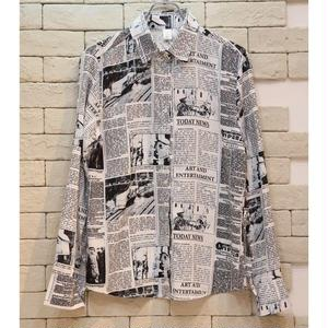 L/S NEWSPAPER SHIRTS