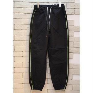 PIPING NYLON TRACK PANTS BLACK