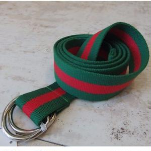 COTTON RING BELT  GREEN/RED