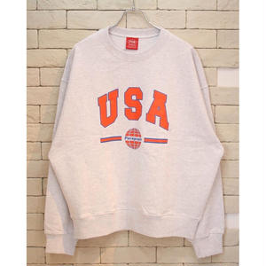 PARAGRAPH USA LOGO CREW NECK SWEAT