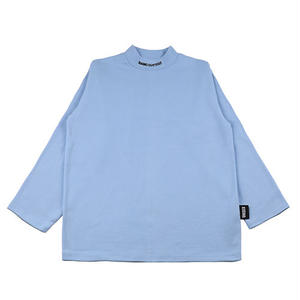 BASIC COTTON BASIC MOCK NECK SKY