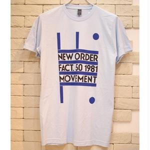 NEW ORDER FACT.50 1981 TEE LIGHT BLUE