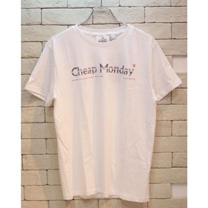 CHEAP MONDAY STANDARD TEE FADE LOGO WHITE