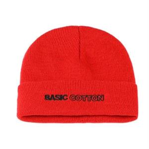 BASIC COTTON BEANIE RED