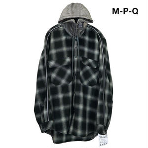 M-P-Q  LINE QUARTETHOOD CHECK SHIRT BLACK