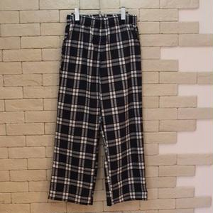 CHECK WIDE E-Z PANTS -SR- GRAY