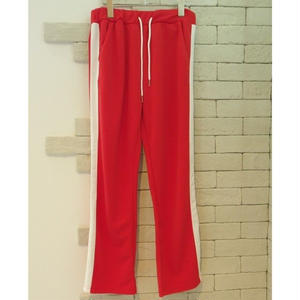 SIDE LINE TRAINING PANTS RED×WHITE