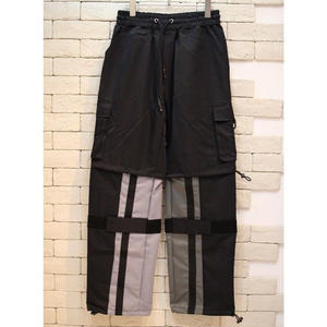 NYLON SWITCHING CARGO PANTS GRY×CHARCOAL