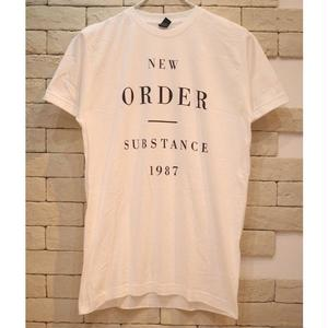 NEW ORDER SUBSTANCE 1987 TEE WHITE