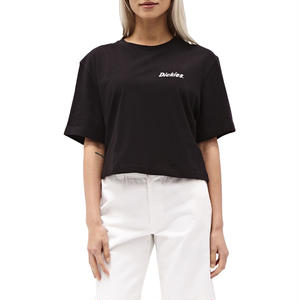 DICKIES GIRL SPIRAL CHECKERD TEE
