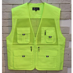 FISHING VEST SAFTY GREEN  -C-