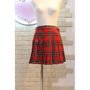TARTAN CHECK MINI SKIRT RED/GREEN
