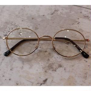 WIDE ROUND GLASSES CLEAR