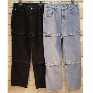 INCISE ZIPPER DENIM PANTS